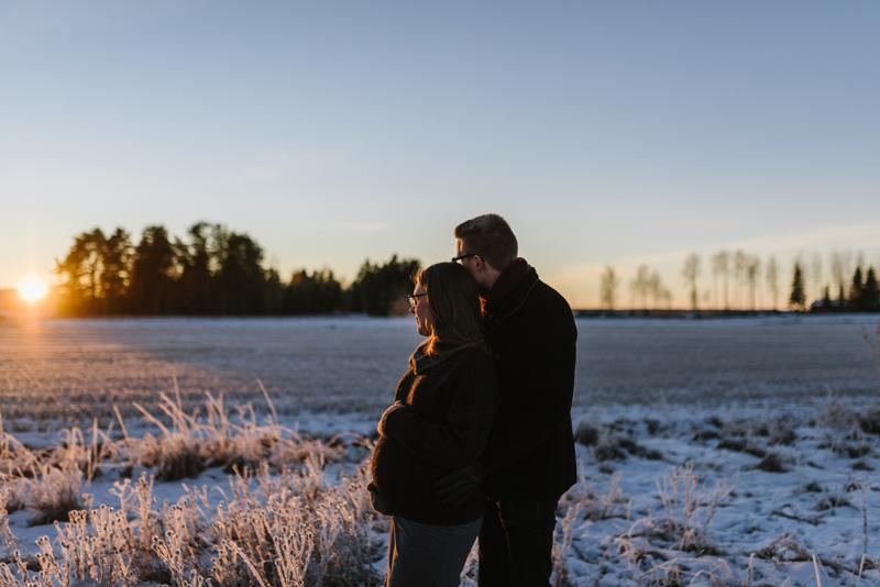 Emma & Joel | gravidfotografering Vasa